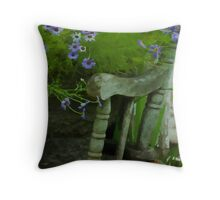 The Old And New - Digital Oil - Thank You Card Throw Pillow