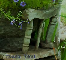 The Old And New - Digital Oil - Thank You Card by Sandra Foster