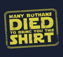 Many Bothan died bring you this shirt Kids Clothes