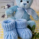 Baby Booties - Blue 2 by Ellesscee