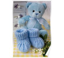 Baby Booties - Blue 2 Poster