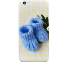 Baby Booties - Blue 3 iPhone Case/Skin