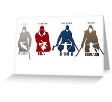 Assassin's Creed Heroes Greeting Card