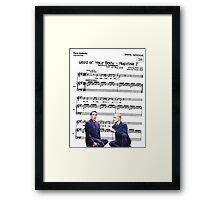 Haven't you heard the word of your body? Framed Print