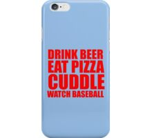 CUDDLE BASEBALL iPhone Case/Skin