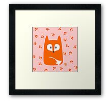 Cute Fox design artwork Framed Print