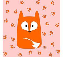 Cute Fox design artwork Photographic Print