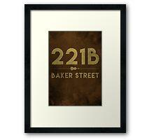221B Baker Street (Colour) Framed Print