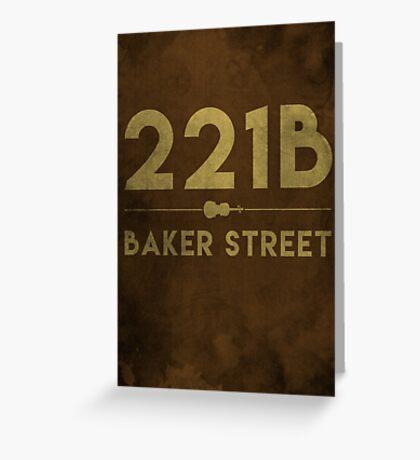 221B Baker Street (Colour) Greeting Card