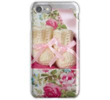 Baby Booties - White 1 iPhone Case/Skin