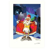 SANTA CLAUS IS COMING TO TOWN! Art Print