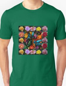 Roses Collage - Chocolates and Flowers  Unisex T-Shirt