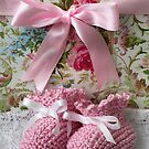 Baby Booties - Pink 4 by Ellesscee