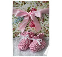 Baby Booties - Pink 4 Poster
