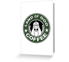 COFFEE: LAND OF OOO Greeting Card