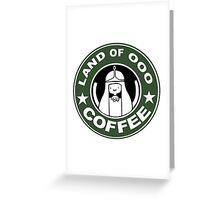 COFFEE: LAND OF OOO Greeting Card