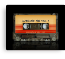 Awesome transparent mix cassette tape volume 1 Canvas Print