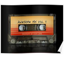 Awesome transparent mix cassette tape volume 1 Poster