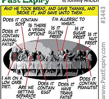 Cartoon : Allergic Jesus - Last Supper by cartoon