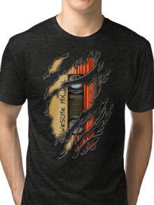 Awesome transparent mix cassette tape volume 1 Tri-blend T-Shirt