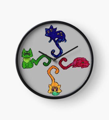 Cat O' Clock Clock