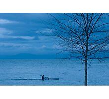 Paddler at Dusk Photographic Print