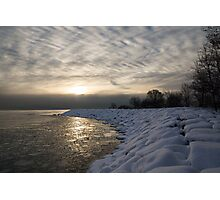 Cold, Moody and Fabulous - a Winter Morning on the Lake Shore Photographic Print