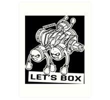 let's lets box funny geeks geek logo Art Print