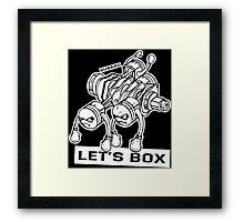 let's lets box funny geeks geek logo Framed Print