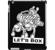let's lets box funny geeks geek logo iPad Case/Skin