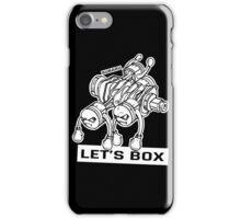 let's lets box funny geeks geek logo iPhone Case/Skin