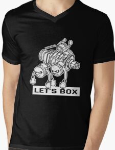 let's lets box funny geeks geek logo Mens V-Neck T-Shirt
