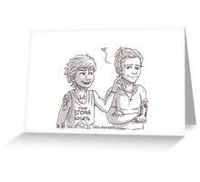 Louis pokes Harry's dimple Greeting Card