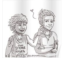 Louis pokes Harry's dimple Poster