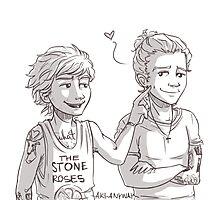 Louis pokes Harry's dimple Photographic Print