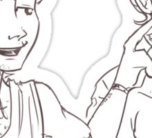 Louis pokes Harry's dimple Sticker
