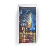 Prague Dancing House  Duvet Cover