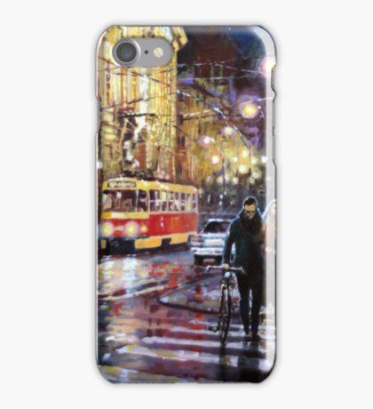 Prague Masarykovo Nabrezi Evening Walk iPhone Case/Skin
