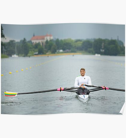 Olympic rowers Poster