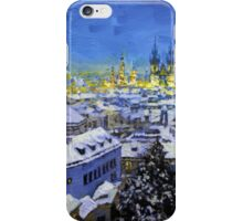 Prague After Snow Fall iPhone Case/Skin