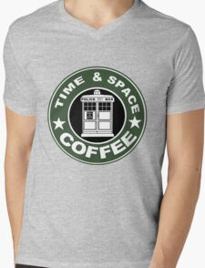 COFFEE: TIME AND SPACE Mens V-Neck T-Shirt