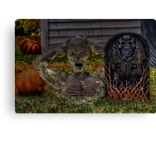 When The Dead Rise And Walk The Earth Canvas Print