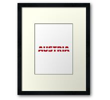 Austria flag Framed Print