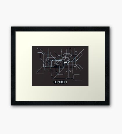 Minimal Tube Map Framed Print