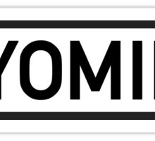 Wyoming Sticker