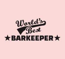 World's best barkeeper bartender  One Piece - Short Sleeve