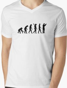 Evolution barkeeper bartender Mens V-Neck T-Shirt