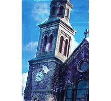 Watercolor Church Photographic Print