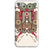 Vector Abstract robot character iPhone Case/Skin