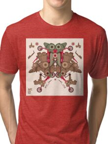 Vector Abstract robot character Tri-blend T-Shirt